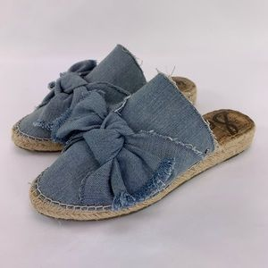 Sam Edelman Lynda Denim Slip On Sz 7.5